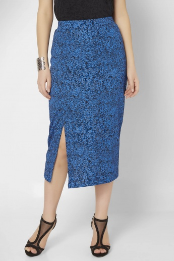 CODE Side Slit Mid-Calf Length Skirt