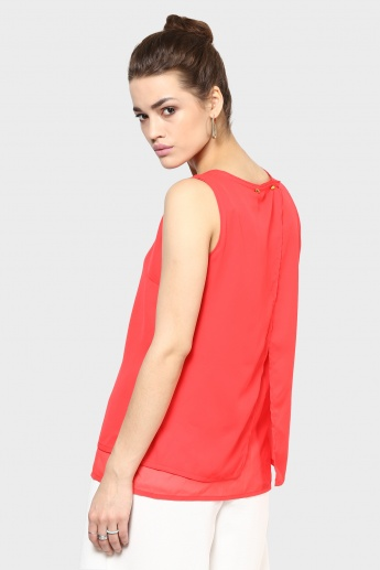 CODE Sleeveless Layered Sleeveless Top