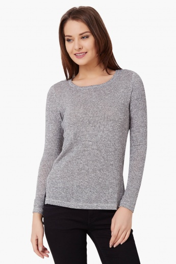 CODE Full Sleeves Knitted Top
