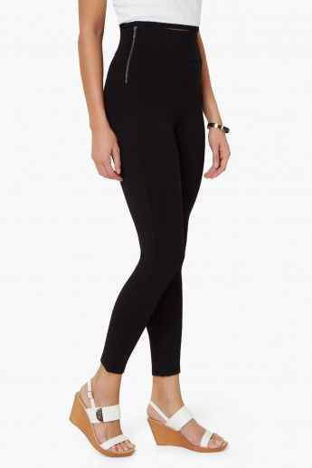 c3667971707a6 CODE High Waist Side-Zip Leggings | Black