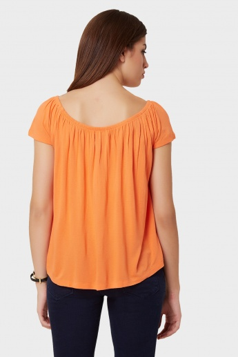 CODE Solid Elasticated Neck Top