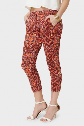CODE Printed Pocketed Capris