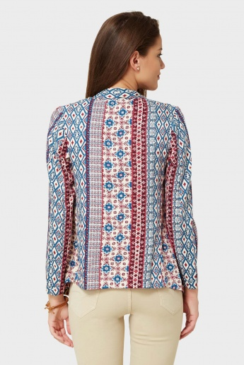 CODE Printed Open Front Shrug