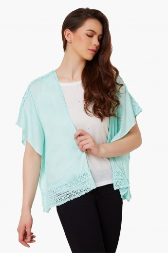 CODE Lace Trim Shrug