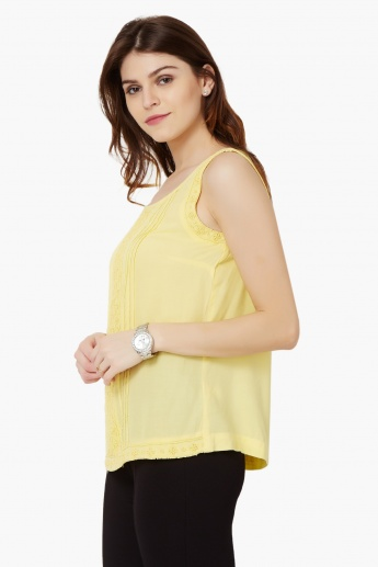 CODE Beaded Sleeveless Top