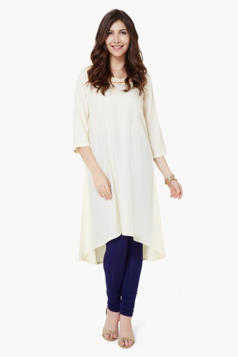 COLOUR ME Solid A-Line Kurta