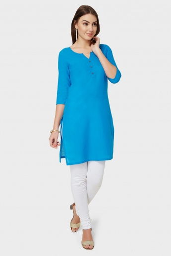 AURELIA Solid 3/4th Sleeves Kurti
