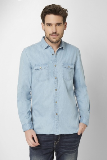 FAME FOREVER Button Up Full Sleeves Shirt
