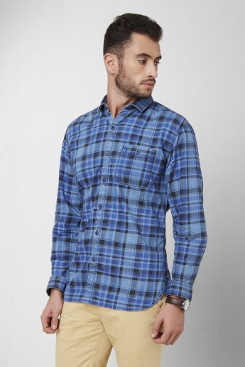 Forca Checks Print Slim Fit Shirt