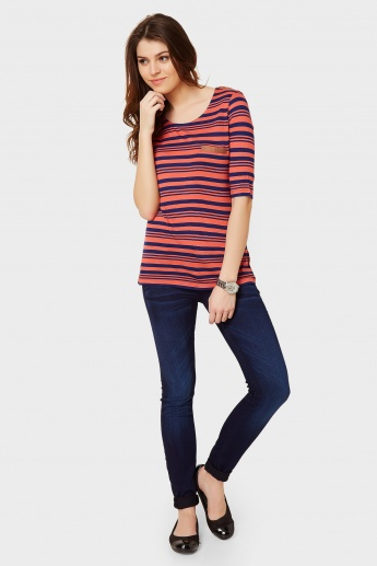 FAME FOREVER Striped Top