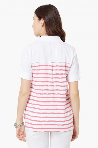 FAME FOREVER Striped Cotton Shirt