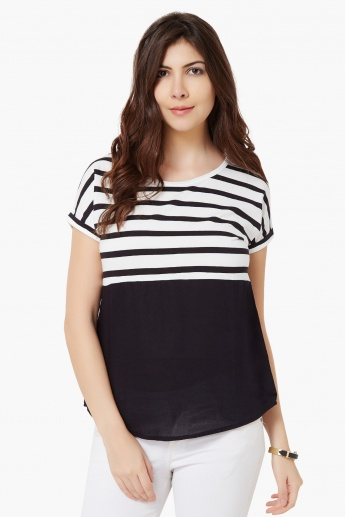 FAME FOREVER Striped Blouse