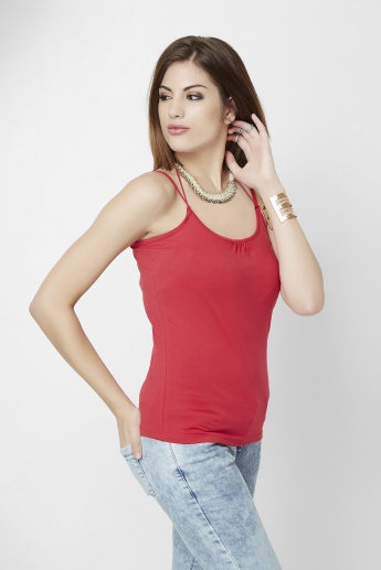 GINGER Spaghetti Double Strap Top