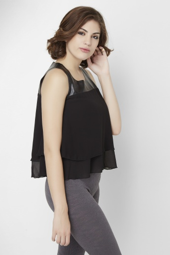 GINGER Solid Sleeveless Top