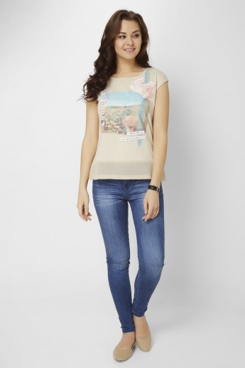 GINGER Graphic Print Top