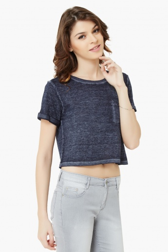 GINGER Raw Finish Crop Top