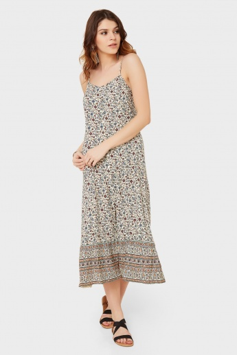 GINGER Boho Print Strappy Dress