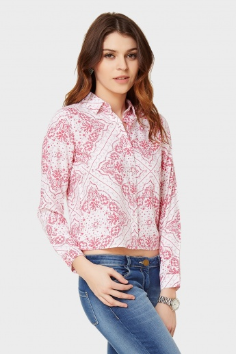 GINGER Printed Crop Shirt