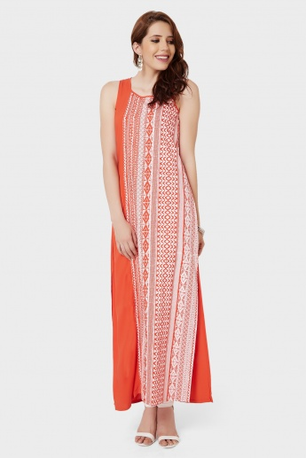 GLOBAL DESI Printed Long Maxi Kurta