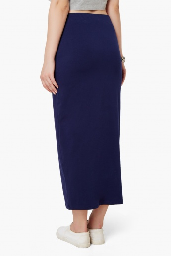 GINGER Solid Maxi Skirt