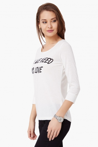 GINGER All We Need Is Love Imprint Top
