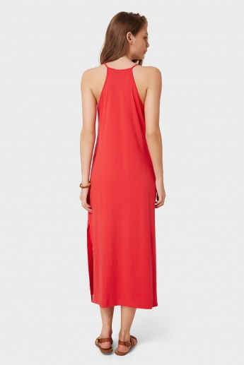 GINGER Solid Cami Maxi Dress