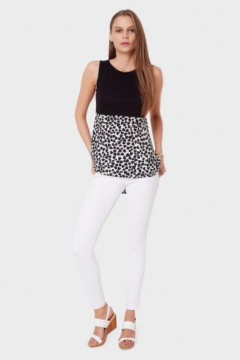 GINGER Sleeveless Heart Print Top
