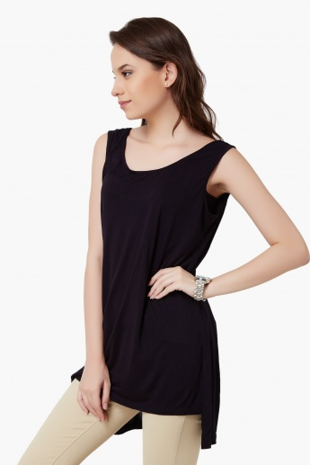 GINGER Sleeveless Cut-out Back Top