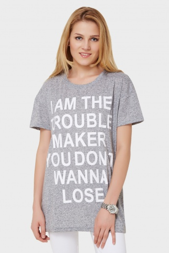 GINGER Quote Imprint Top