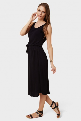 GINGER Solid Sleeveless Maxi Dress