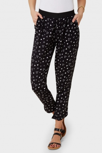GINGER Printed Pull-Up Pants