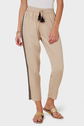 GINGER Embroidered Side Panels Pants