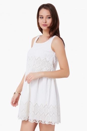 GINGER Sleeveless Eyelet Dress