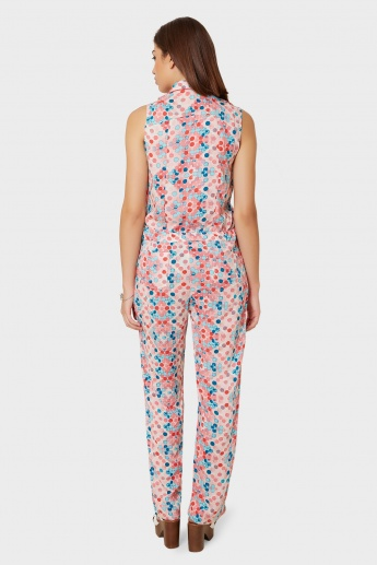 BIBA Polka Pop Sleeveless Jumpsuit