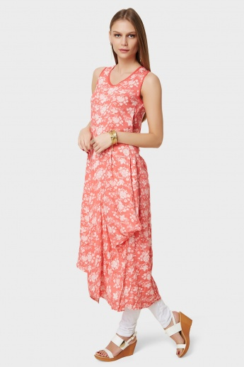 BIBA Wrap Pleats Printed Kurta