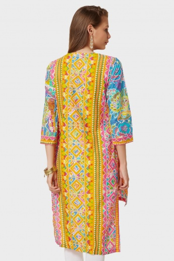 BIBA Printed High Low Kurti