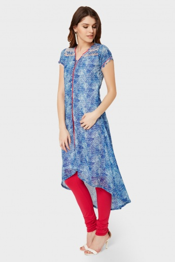 BIBA Printed High-Low Hem Kurta