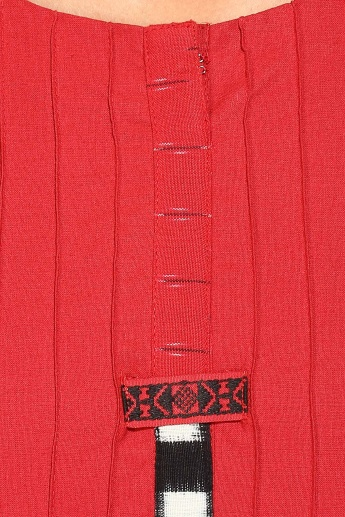 BIBA Round Notch Neck 3/4th Sleeves Straight Kurta