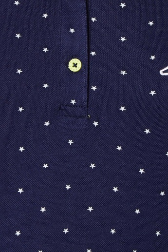 KAPPA Starry Print Polo neck T-Shirt