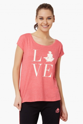 KAPPA Love Yoga Round Neck T-Shirt