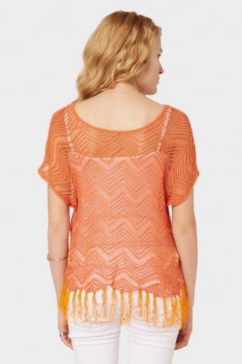 GINGER Knitted Tasselled Top