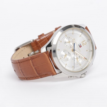 9d4dc2915 TOMMY HILFIGER Women Chronograph Leather Strap Watch ...