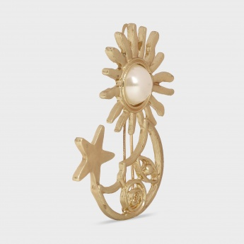 TONIQ Sun Moon Star Brooch
