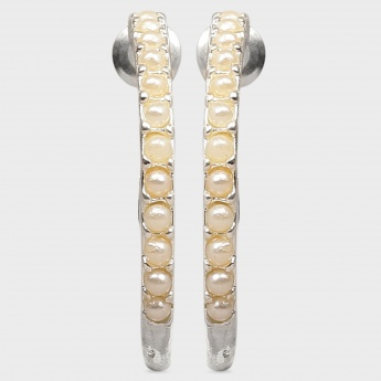 TONIQ Pearl Hoop Earrings