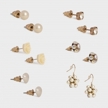 TONIQ Mixed Bunch Earrings - Set Of 6