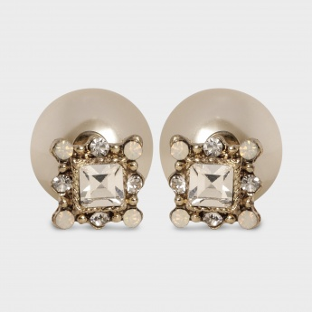 TONIQ Double Trouble Crystal Earrings