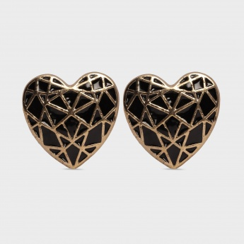 TONIQ Heart Mosaic Stud Earrings