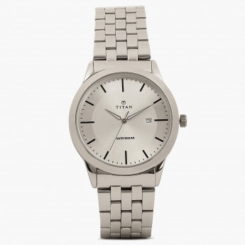 TITAN Steel Collection 1584SM03 Analog With Date Watch