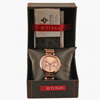 TITAN Purple 2480WM01 Multifunction Watch