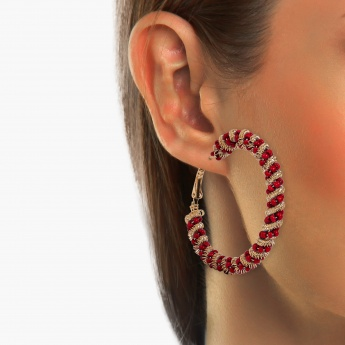 TONIQ Trendy Red Hoops